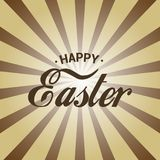 Szczęśliwy Wielkanocny kartka z pozdrowieniami z abstrakcjonistycznymi słońce promieniami wektor ilustracja wektor