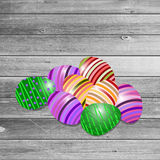 Szczęśliwy Wielkanocny kartka z pozdrowieniami również zwrócić corel ilustracji wektora Zdjęcie Royalty Free