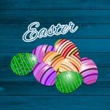 Szczęśliwy Wielkanocny kartka z pozdrowieniami również zwrócić corel ilustracji wektora Obrazy Royalty Free