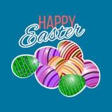 Szczęśliwy Wielkanocny kartka z pozdrowieniami również zwrócić corel ilustracji wektora Obraz Stock