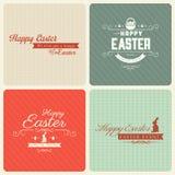 Szczęśliwy Wielkanocny kartka z pozdrowieniami set Fotografia Royalty Free