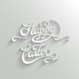 Szczęśliwy Wielkanocny literowania kartka z pozdrowieniami Zdjęcie Stock