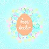 Szczęśliwy Wielkanocny literowanie zdjęcie stock