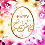 Szczęśliwy Wielkanocny literowanie na jajku Obraz Royalty Free
