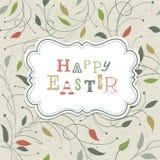 Szczęśliwy Wielkanocny Retro Śliczny powitanie. Zdjęcie Royalty Free
