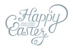 Szczęśliwy Wielkanocny rocznika literowanie dla kartka z pozdrowieniami royalty ilustracja