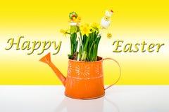 Szczęśliwy Wielkanocny skład Zdjęcia Stock