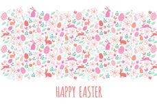 Szczęśliwy Wielkanocny sztandar, wektor royalty ilustracja