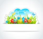 Szczęśliwy Wielkanocny tło Zdjęcia Royalty Free