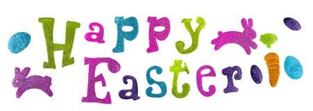 Szczęśliwy Wielkanocny tło, kreatywnie powitania Czułego rocznika stonowany wakacyjny wizerunek Zdjęcia Stock