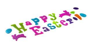 Szczęśliwy Wielkanocny tło, kreatywnie powitania Czułego rocznika stonowany wakacyjny wizerunek Zdjęcia Royalty Free