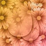 Szczęśliwy Wielkanocny tło Z Dekoracyjnymi jajkami Zdjęcie Royalty Free