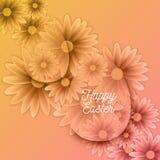 Szczęśliwy Wielkanocny tło Z Dekoracyjnymi jajkami Fotografia Royalty Free
