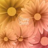 Szczęśliwy Wielkanocny tło Z Dekoracyjnymi jajkami Obraz Royalty Free