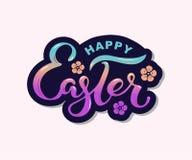 Szczęśliwy Wielkanocny tekst odizolowywający na textured tle Zdjęcie Royalty Free