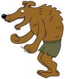 Szczęśliwy Wilkołak ilustracja wektor