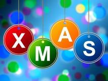 Szczęśliwy Xmas Znaczy nowego roku I gratulacj Fotografia Stock