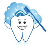 szczęśliwy ząb ilustracji