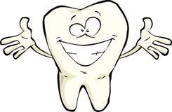 Szczęśliwy ząb ilustracja wektor