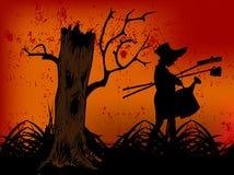 szczęśliwy zły lasowy Halloween zdjęcia stock