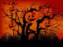 szczęśliwy zły lasowy Halloween Obrazy Royalty Free