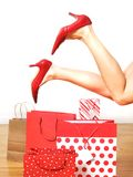 szczęśliwy zakupy Zdjęcia Royalty Free