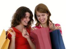 szczęśliwy zakupy Zdjęcia Stock