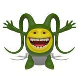 Szczęśliwy zielony potwór Obrazy Royalty Free