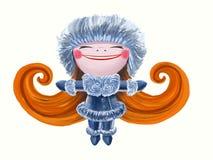 Szczęśliwy zima anioł Ilustracji
