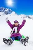 Szczęśliwy zima wakacje Zdjęcia Royalty Free