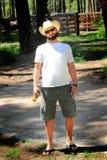 Szczęśliwy Zrelaksowany kowboj Zdjęcie Royalty Free