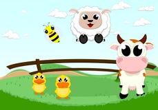 Szczęśliwy zwierzęta gospodarskie Obrazy Stock