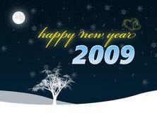 szczęśliwych 2009 nowego roku ilustracja wektor