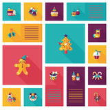 Szczęśliwych bożych narodzeń app ui płaski tło, eps10 Fotografia Royalty Free