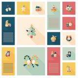 Szczęśliwych bożych narodzeń app ui płaski tło, eps10 Obrazy Royalty Free