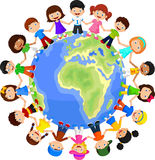 Szczęśliwych dzieci różne rasy ilustracji