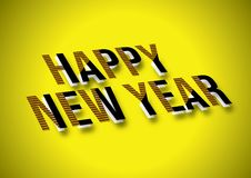 2019 Szczęśliwych nowego roku xmas powitań Fotografia Stock