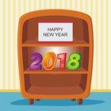 2018 szczęśliwych nowy rok royalty ilustracja