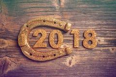 2018 szczęśliwych nowy rok Fotografia Royalty Free