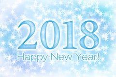 2018 szczęśliwych nowy rok Fotografia Stock