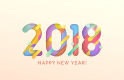 2018 szczęśliwych nowy rok Zdjęcie Royalty Free