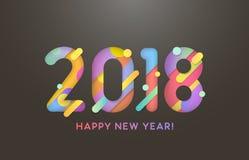 2018 szczęśliwych nowy rok Obraz Royalty Free