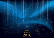 2016 Szczęśliwych nowy rok ilustracja wektor