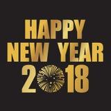 2018 szczęśliwych nowy rok Zdjęcia Royalty Free