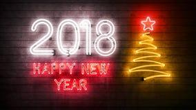 2018 Szczęśliwych nowy rok 2018 Obraz Stock