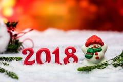 2018 szczęśliwych nowy rok Zdjęcie Stock