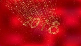 2018 szczęśliwych nowy rok ilustracja wektor
