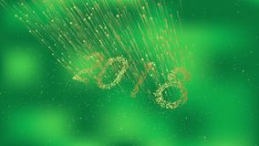 2018 szczęśliwych nowy rok ilustracji