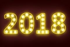2018 szczęśliwych nowy rok dla sezonowego i wakacyjnego tła Zdjęcia Royalty Free