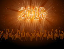 2016 szczęśliwych nowy rok dyskoteki ulotek Obraz Royalty Free